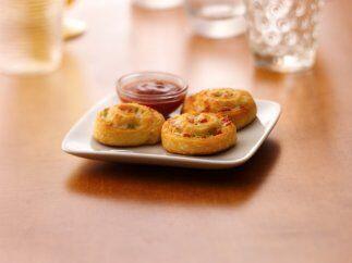 Rollitos de pepperoni: Esta receta presenta una variante a la hora de pr...