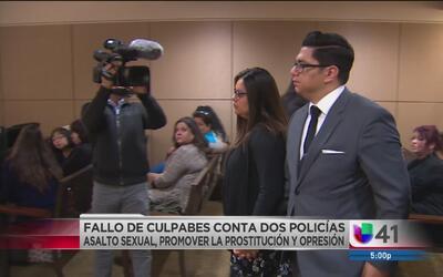 Hallan culpables a dos ex policías de asalto sexual y prostitución