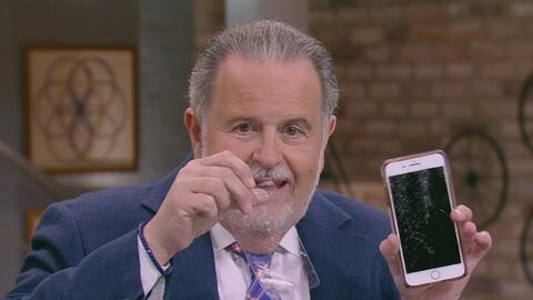 Mira en lo que quedó el celular de Raúl de Molina ¿Cómo pasó eso?