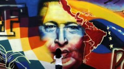 Imagen del fallecido expresidente de Venezuela, Hugo Chávez.
