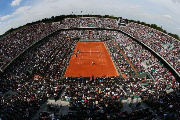 A reventar estaba la cancha principal del segundo Grand Slam del a&ntild...