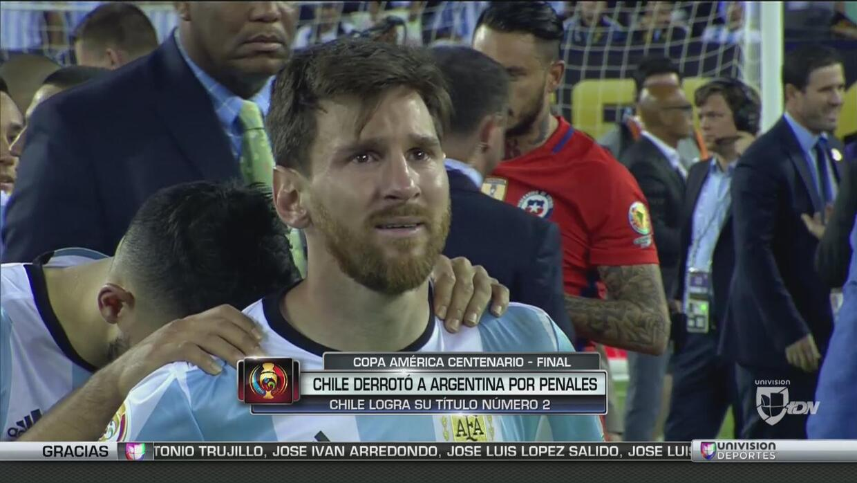 Messi lloró por otra final perdida