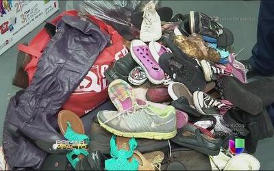 Un paso a la vez con miles de zapatos reciclados