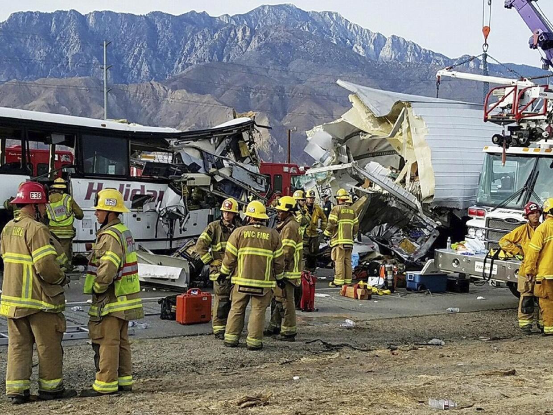 Múltiples muertos y heridos en este accidente de autobús e...