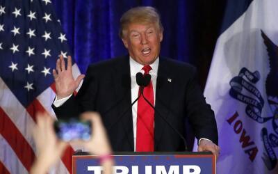 Trump reconoció su derrota en Iowa.