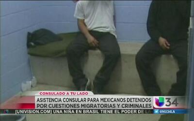 Asistencia consular para mexicanos detenidos