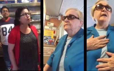 Mujer racista ataca a mujer latina por hablar español y no saber hablar...