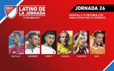 Nominados al Latino de la Jornada 26 de la MLS