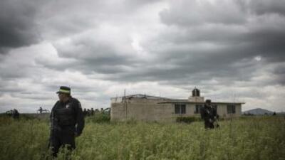 En esta casa fue encontrado el túnel por donde el narcotraficante se fugó.