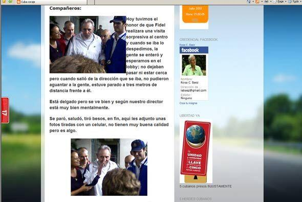 El ex presidente cubano Fidel Castro salió a la calle segú...