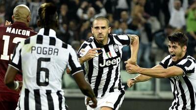 Bonucci hizo el gol del triunfo 'bianconero' a falta de escasos minutos...
