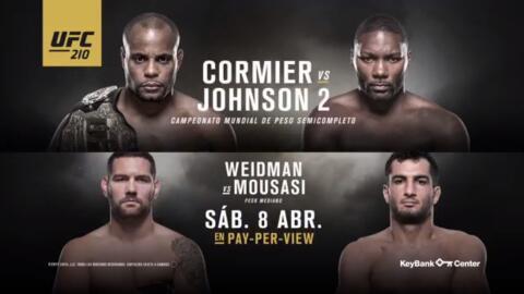 """¡No te pierdas el encuentro entre Daniel Cormier y Anthony """"Rumble"""" John..."""