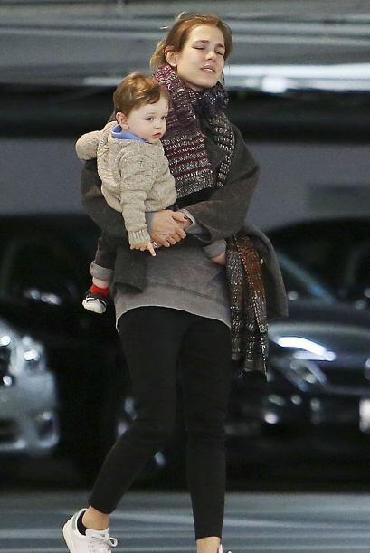 Y su pequeño Raphaël todo un encanto.