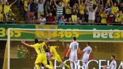 Cani hizo el primer gol del Villarreal.