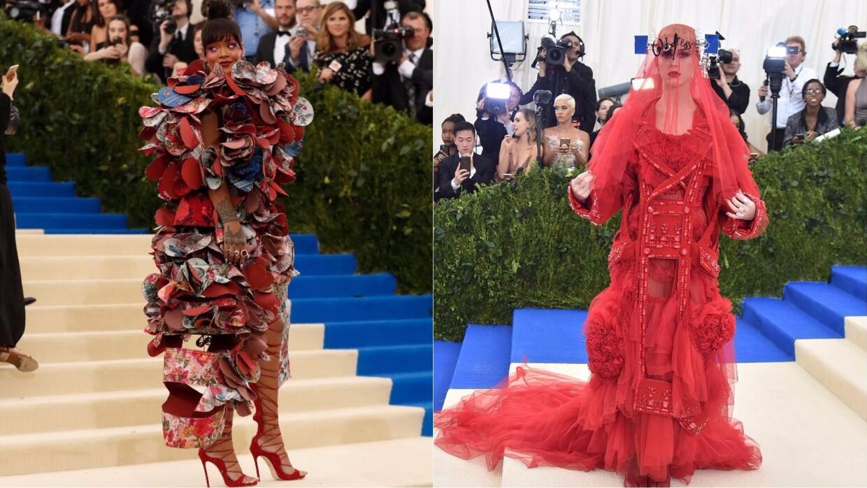Looks de Rihanna y Katy Perry, entre los más comentados de la MET Gala