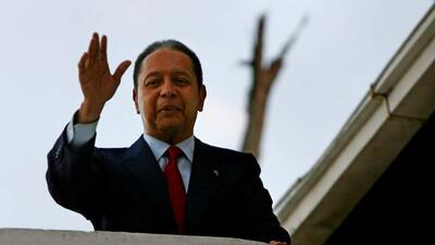 Jean Claude Duvalier, conocido como 'Baby Doc', volvió a Haití.