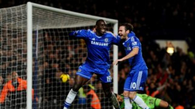 Demba Ba selló la remontada 'Blue' ante el Southampton.