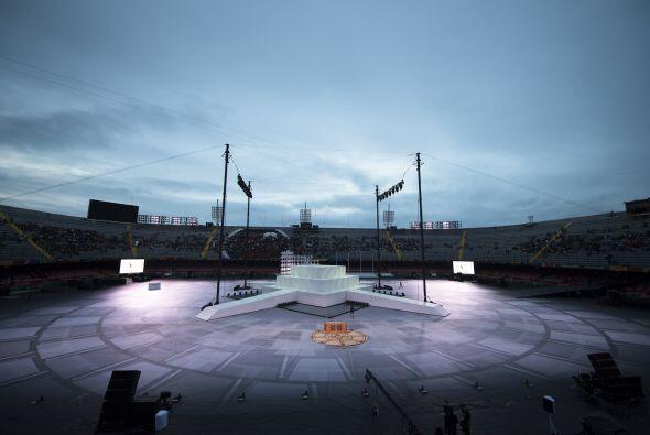 EL clima amenazó con retrasar la ceremonia, pero al final el ciel...