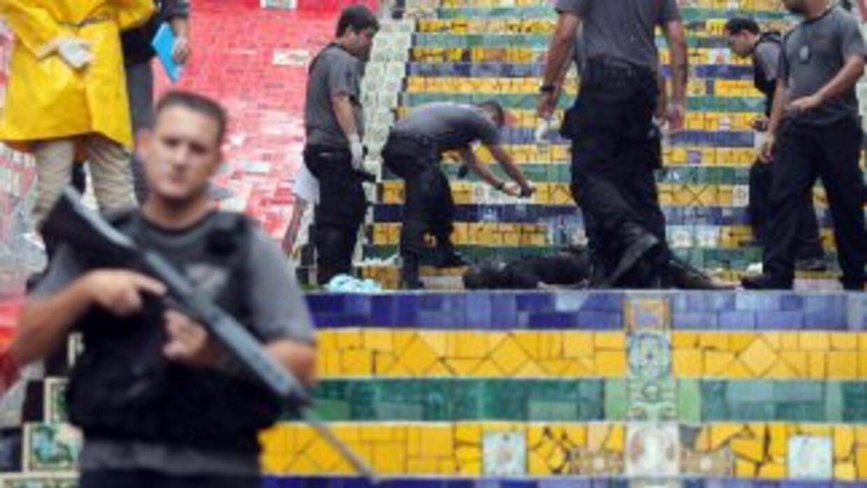 Elementos de la policía de Brasil.