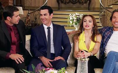 Angelique Boyer y sus tres galanes están listos para el estreno de 'Tres...