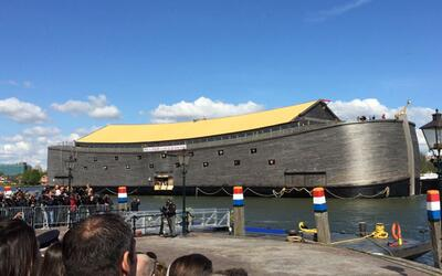 La embarcación instalada en Holanda.