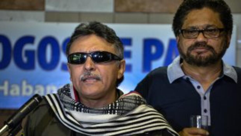 Los comandantes de las FARC, Jesus Santrich e Ivan Márquez, en La Habana...