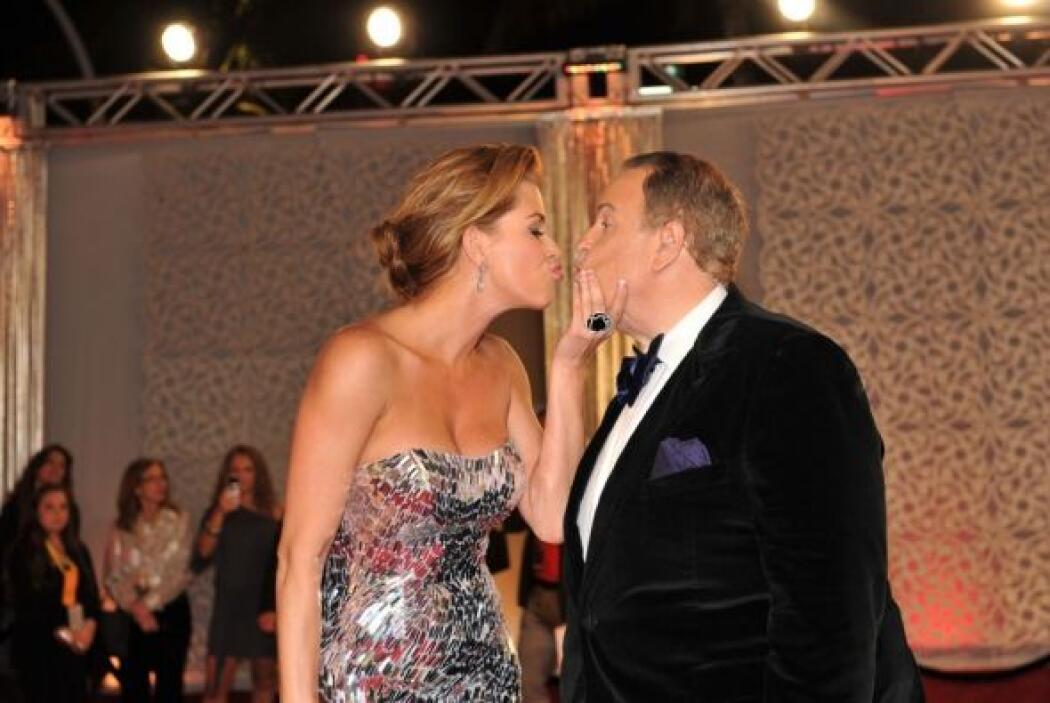 En 2011, Alicia Machado tuvo la oportunidad de darle sus buenos besos a...