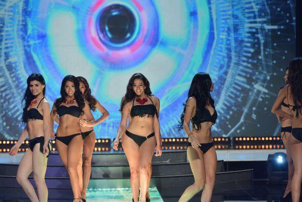 Lo que más se disfrutó fue ver desfilar a estas chicas en bikini.