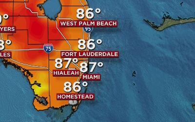 Lunes de cielo mayormente despejado y baja probabilidad de lluvia en Miami