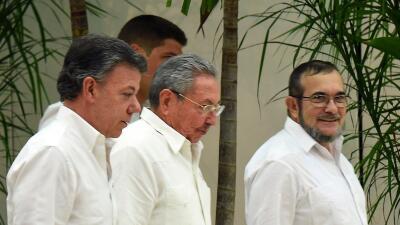 Imagen tras una de las reuniones en La Habana