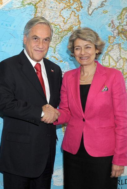 Piñera visitó luego, por primera vez como jefe de Estado, la sede de la...