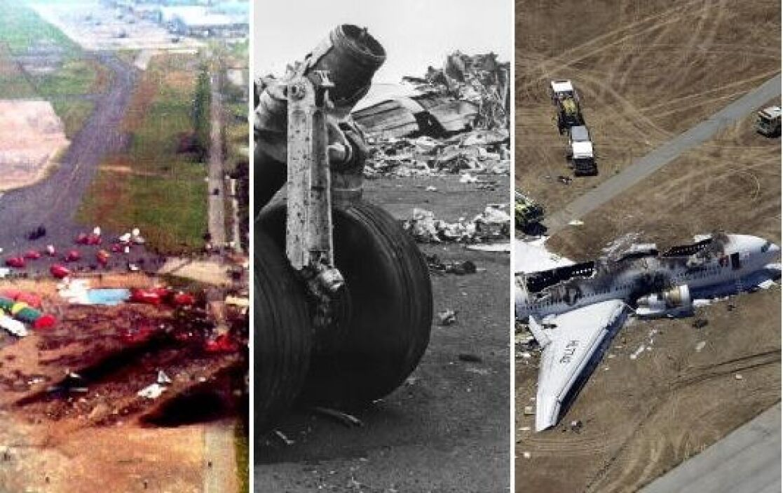 Las imágenes del vuelo 214 de Asiana envuelto en llamas son impactantes,...