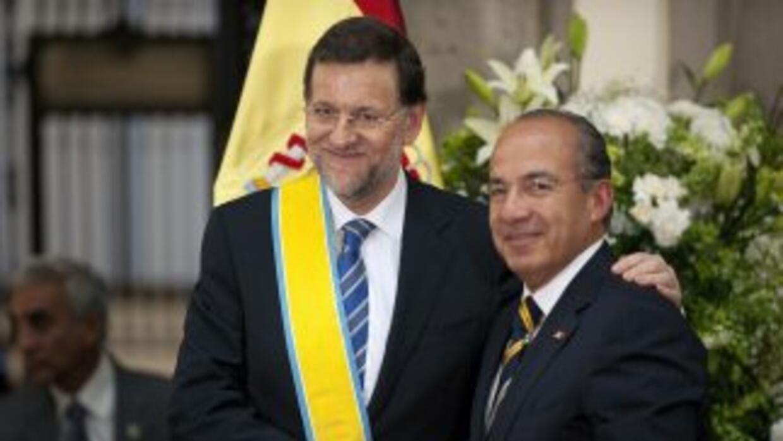 """Rajoyreconoció a Calderón """"por la lucha que ha emprendido durante su ma..."""