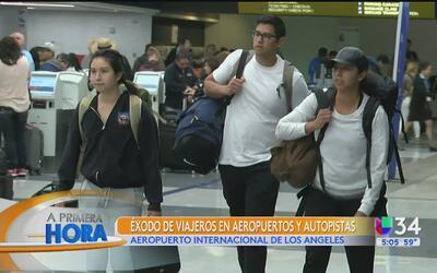 Pronostican récord de viajeros en este Memorial Day en Los Ángeles