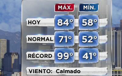 Día cálido, soleado y de cielo despejado para este miércoles en Los Ángeles