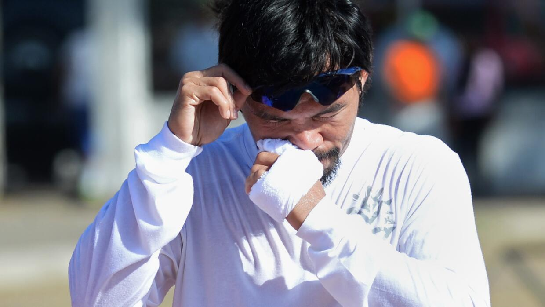 Manny Pacquiao en su entrenamiento en Filipinas