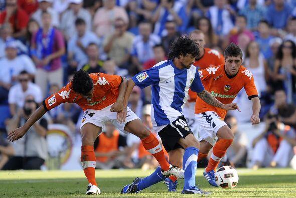El Valencia fue a la cancha del Hércules con la misión de no sufrir una...