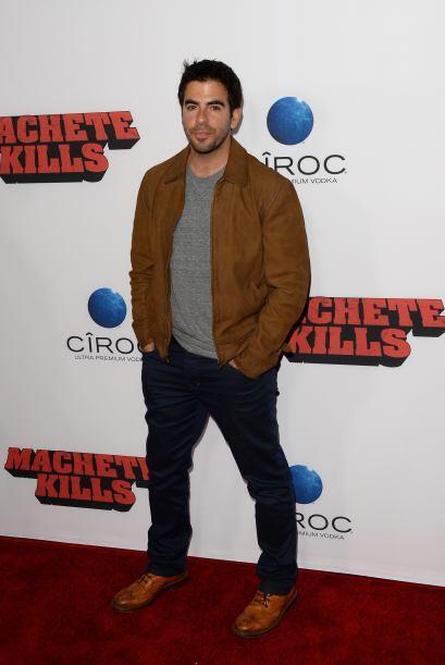 El director de cine Eli Roth prifirió ir con ropa más cómoda al evento.
