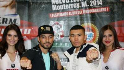 Montiel y Puerta prometieron dar una gran pelea (Foto: Zanfer).