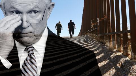El fiscal general Jeff Sessions viaja a Nogales, Arizona, donde ya hay v...