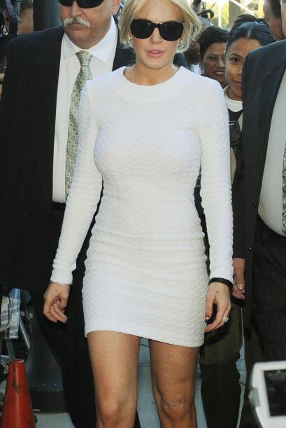 Así llegó Lindsay despampanante a la corte, donde discutían su futuro tr...