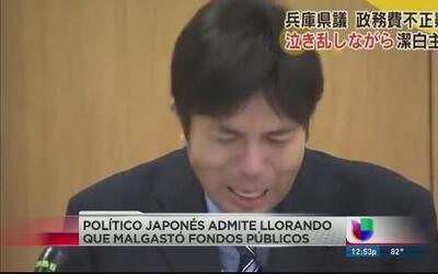 Vídeo de político japones llorando en conferencia prensa está viral en I...