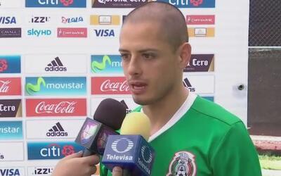 """Chicharito Hernández sobre su record goleador: """"Yo lo que quiero es que..."""