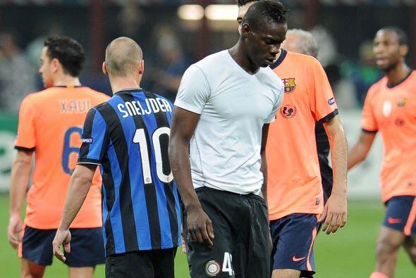 En un partido del Inter ante el Barcelona en Champions League, el equipo...