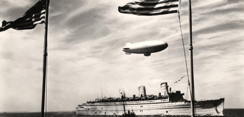 De 1940 a 1946 el Queen Mary sirvió como nave de transporte militar y se...