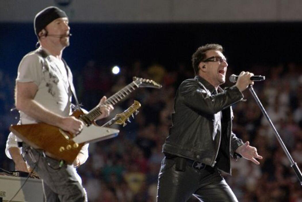 1. U2- Los años no han gastado a esta banda irlandesa, por el contrario...
