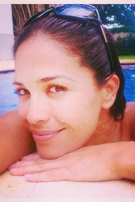 """#Relax"", mostró Karla. (Julio 20, 2014)"