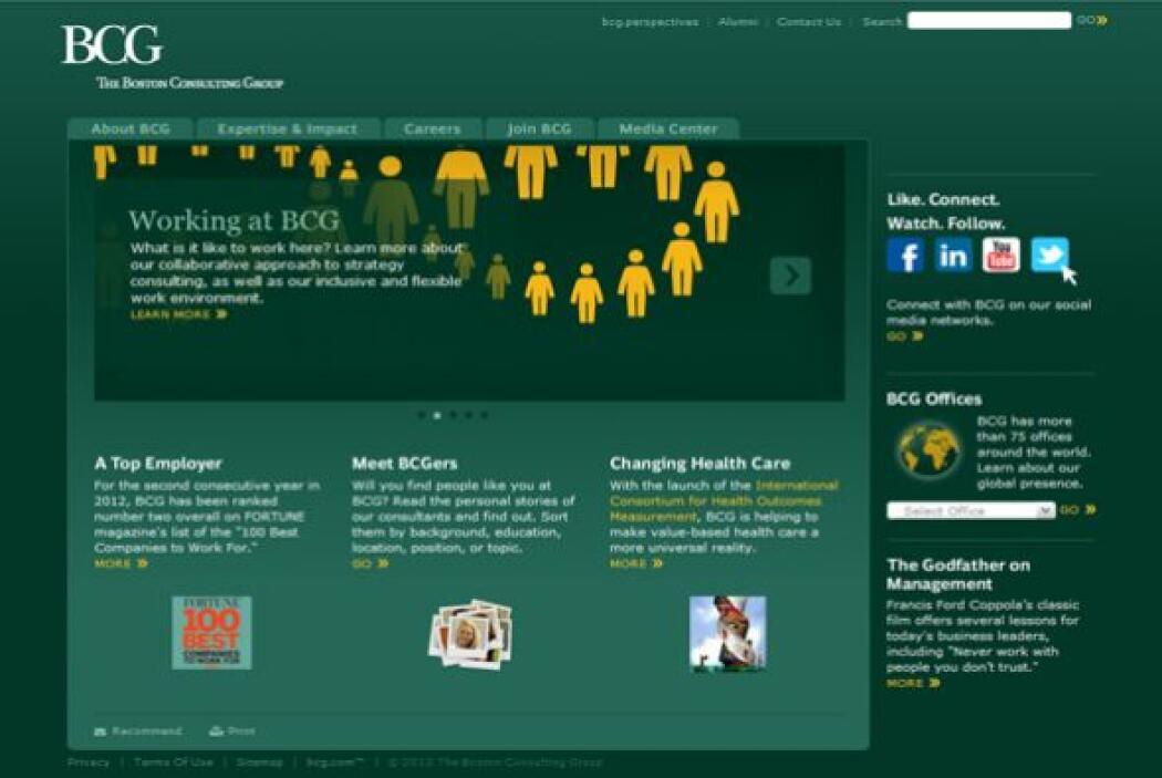 2.BOSTON CONSULTING GROUP-  Número de empleados-1,958  Industria-Servici...