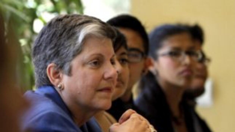La exsecretaria de Seguridad Nacional de EEUU, Janet Napolitano, apoya q...