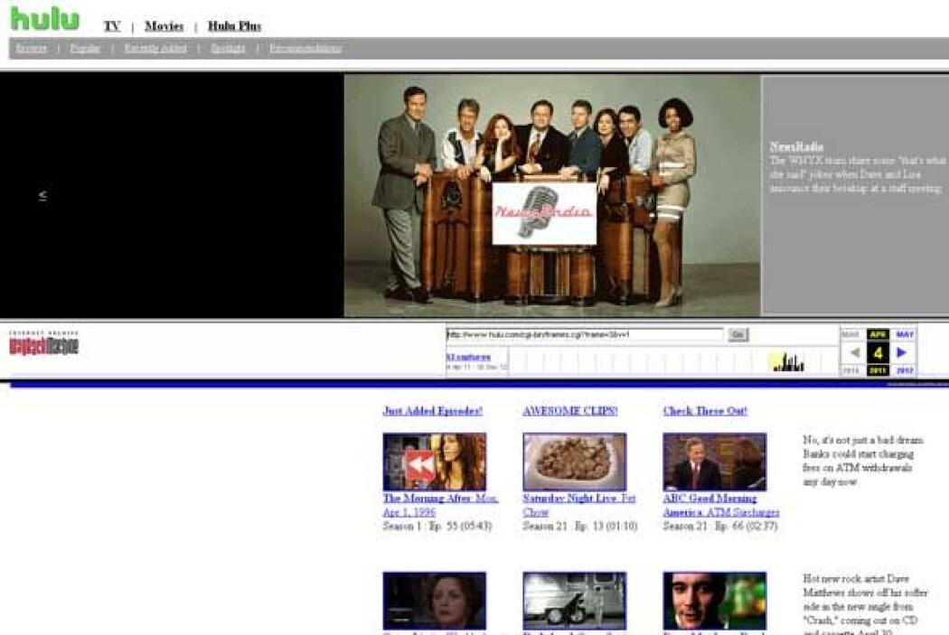 El Hulu de 1996 (in 2011) - Si alguna vez se preguntaron cómo sería la t...